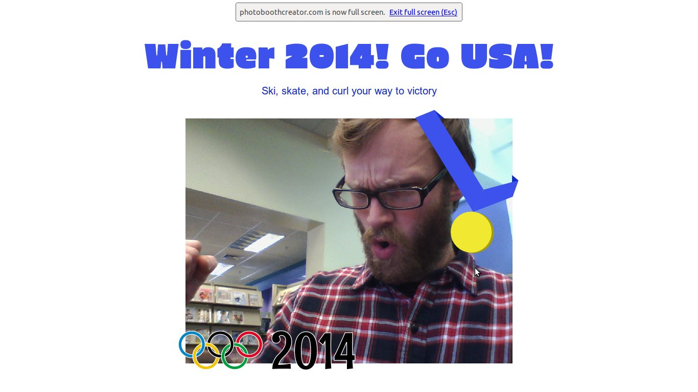 Winter Olympics photo booth template